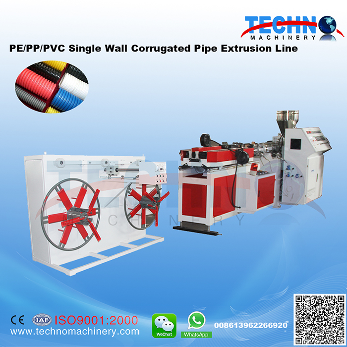 PVC/PE/PP Single Wall Corrugated Pipe Extrusion/Production Line