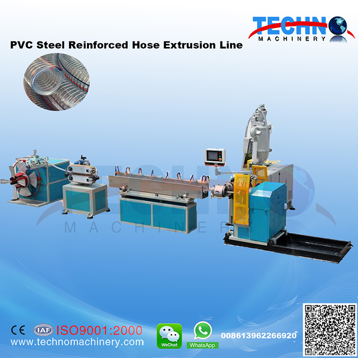PVC Steel Wire Reinforced Hose Extrusion Line-Plastic Pipe Extrusion ...