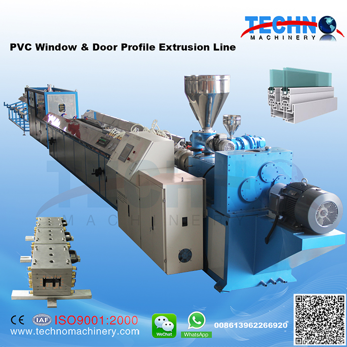 PVC window & Door Profile Extrusion Line