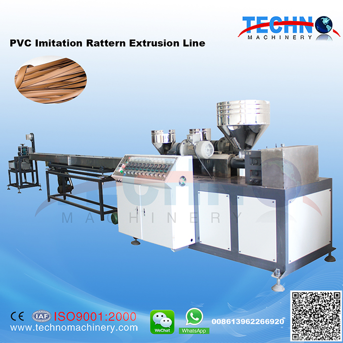 PVC Artifical Rattan Extrusion Line