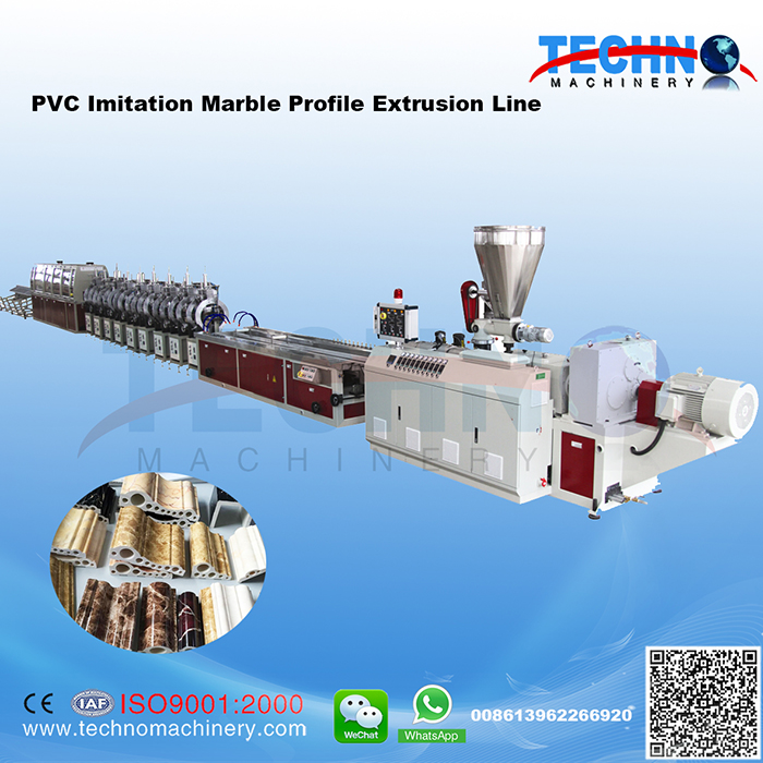 PVC Artificial Marble Skirting Extrusion Line