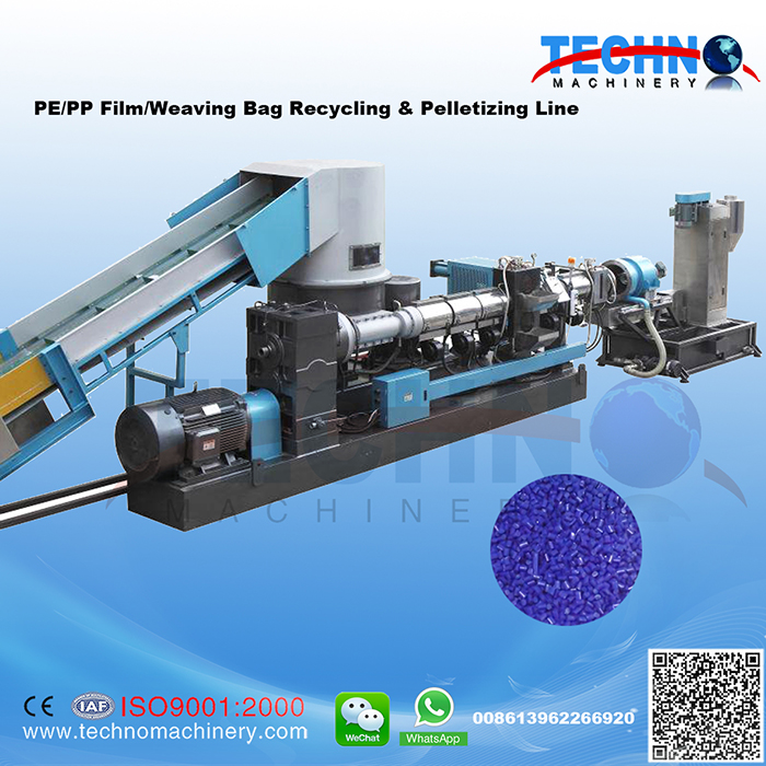 PE PP Compacting/Agglomerating & Pelletizing Line
