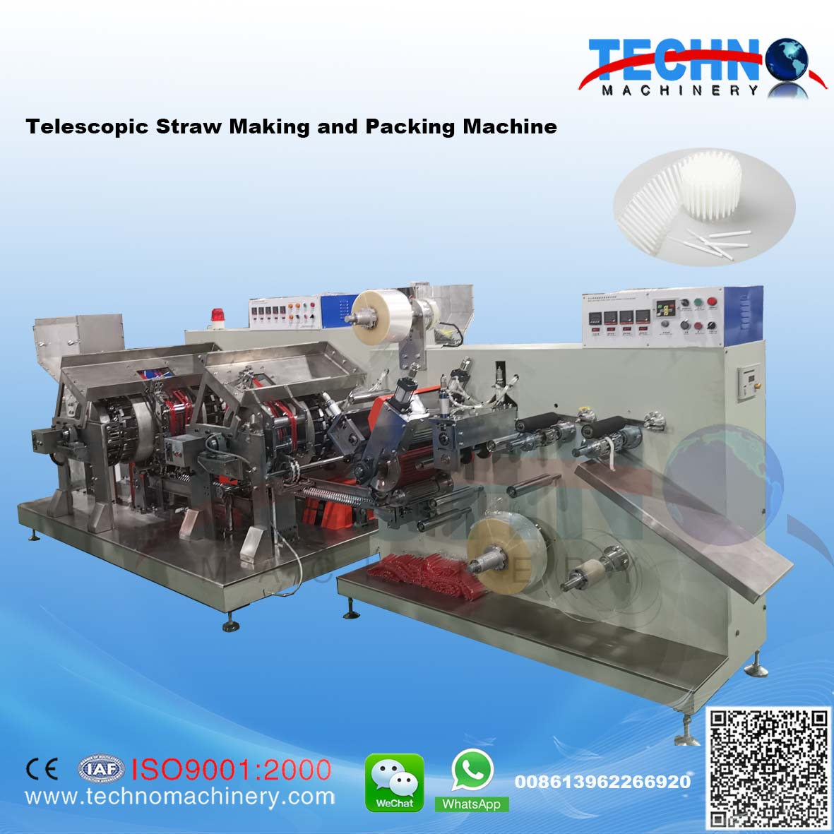 TELESCOPIC STRAW MAKING MACHINE